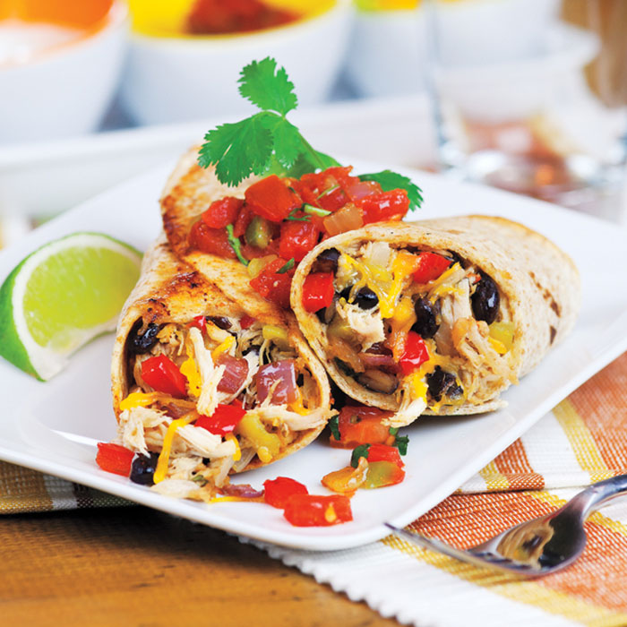 Chicken Black Bean Burritos Our Family Foods