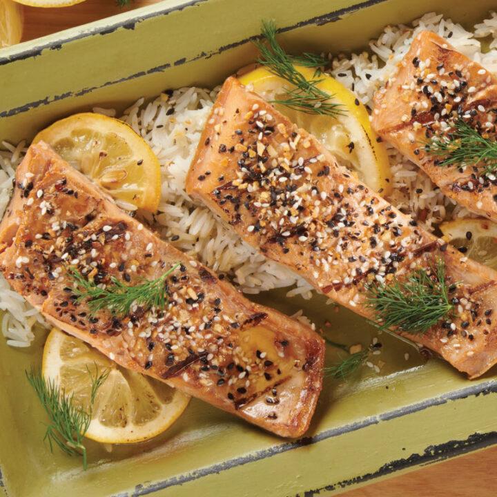 Everything Bagel Seasoning Blend - Glazed Salmon