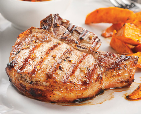 Lager Marinated Grilled Pork Chops