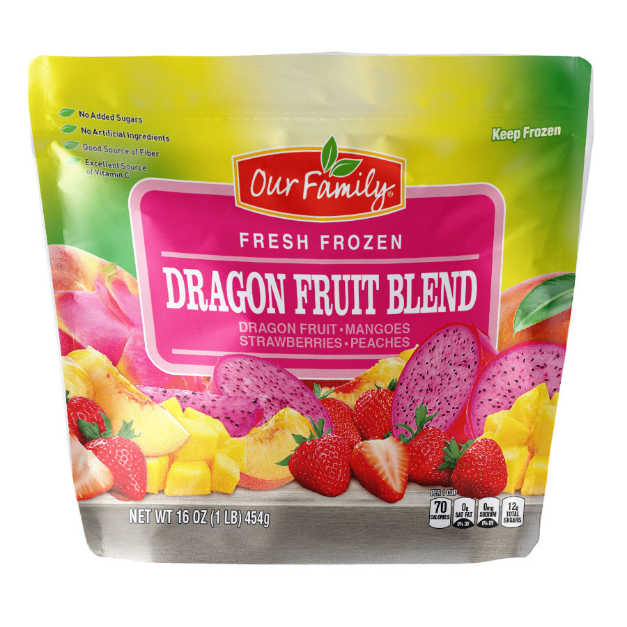 Our Family fresh frozen Dragon Fruit Blend