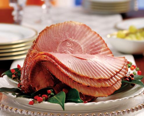 Bourbon Cola Glazed Ham