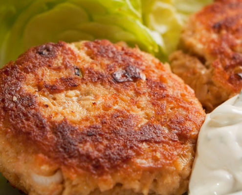 Fish Cakes on plate