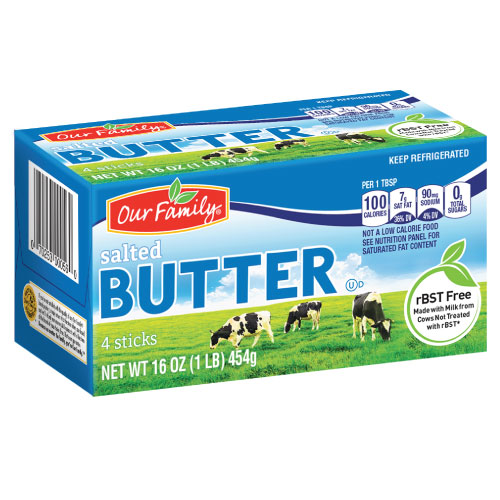 Our Family rBST Free Butter
