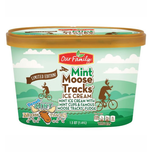 New - Our Family Limited Edition Mint Moose Tracks Ice Cream