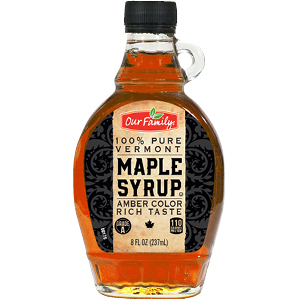 New Item - Our Family 100% Pure Vermont Maple Syrup, 8 Oz