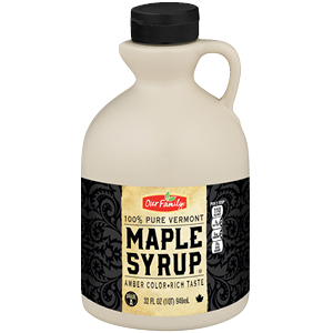 New Item - Our Family 100% Pure Vermont Maple Syrup